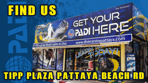 FIND US AT PATTAYA DIVE CENTER