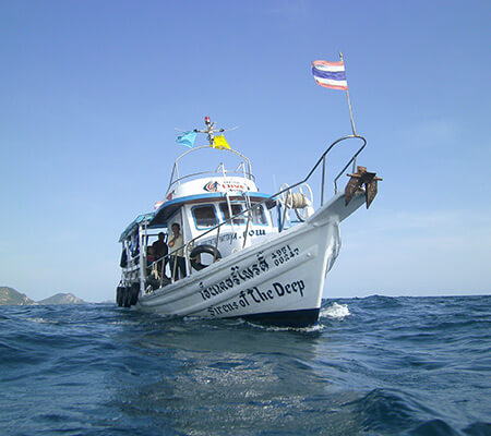 Pattaya Snorkeling boats sirens of the deep